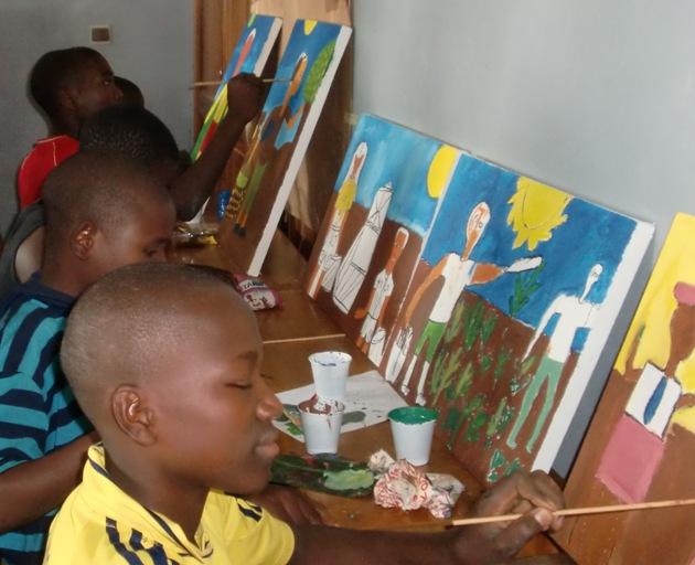 Bambini di strada a Yaoundé