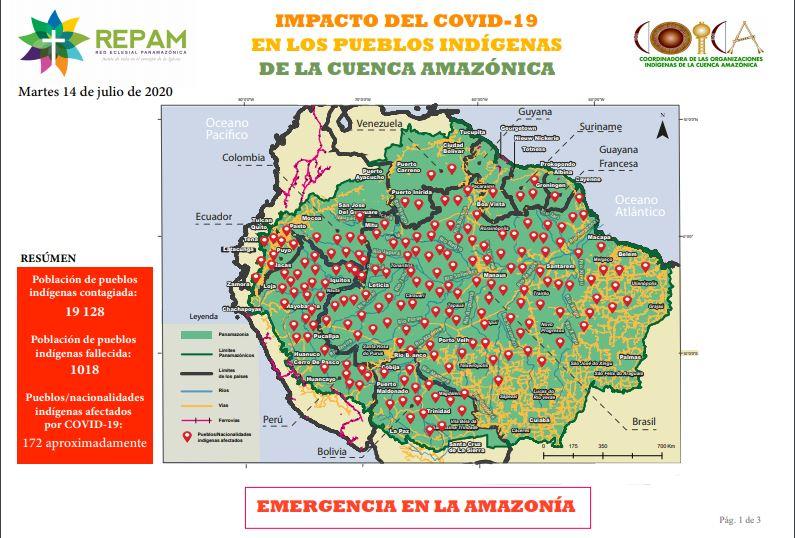 Amazzonia, aggiornamento Covid-19