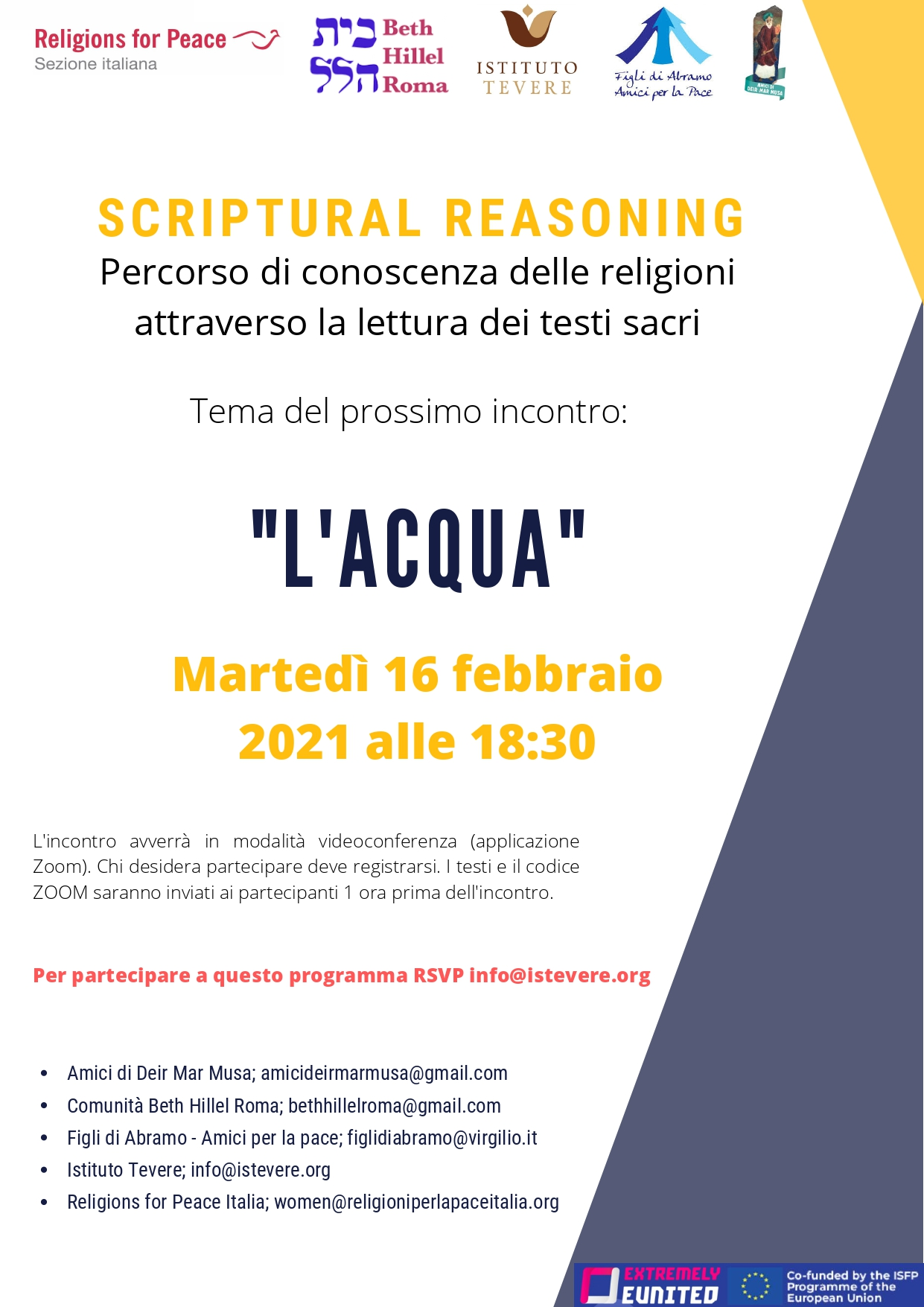 Video – incontro Scriptural Reasoning