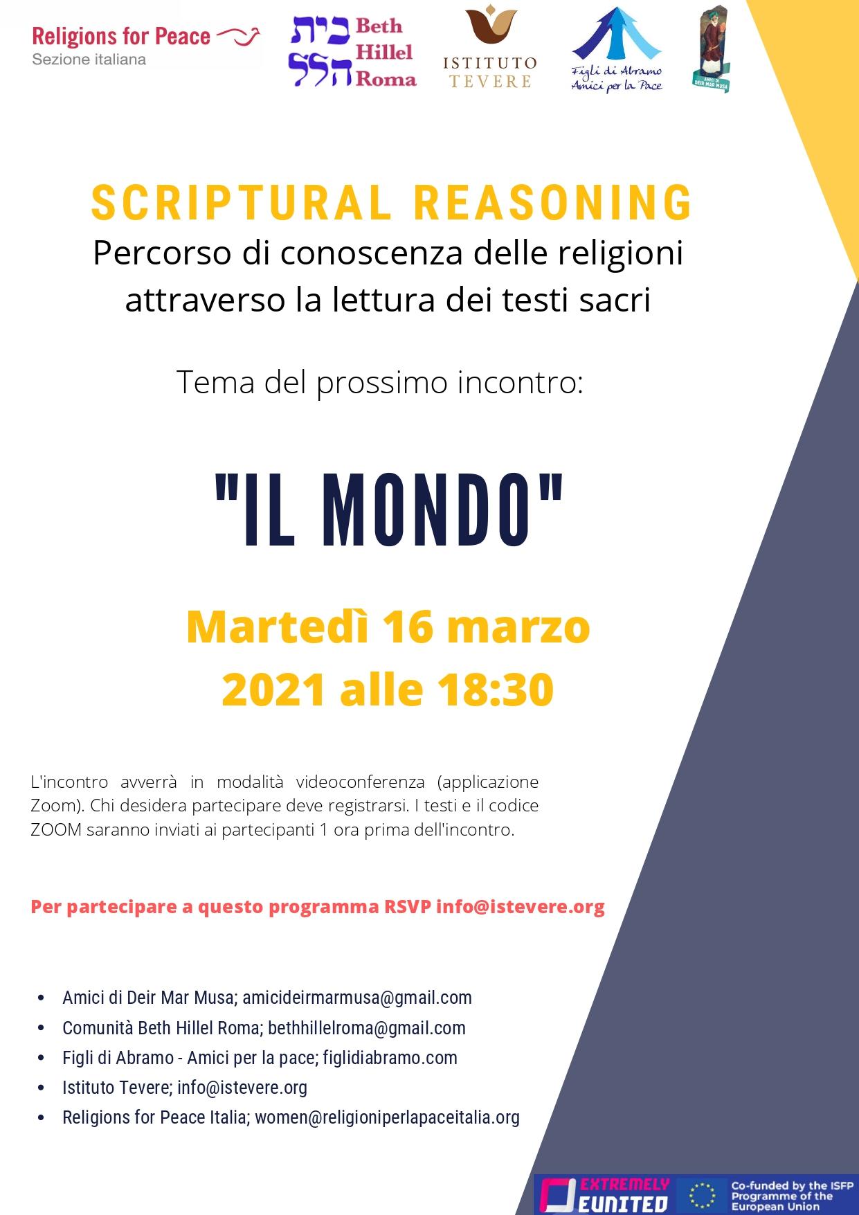 Video – incontro Scriptural Reasoning