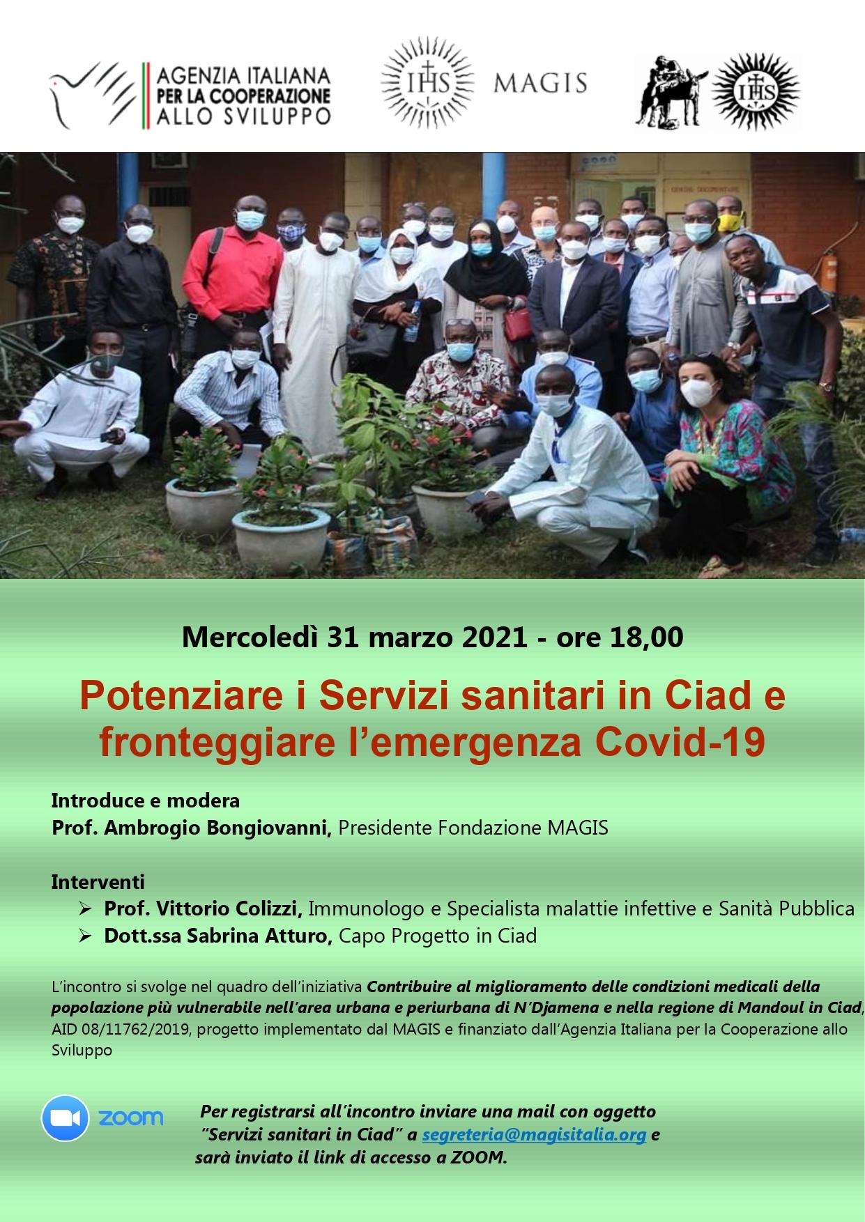 """Evento Zoom """"Potenziare i servizi sanitari in Ciad e fronteggiare l'emergenza Covid-19"""""""